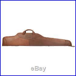 Padded Rifle Case Shotgun Slip Gun Soft Case Tourbon Genuine Leather Vintage
