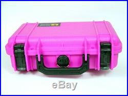 Pelican 1170 Pink Shooters Solution case precut foam with Mag Lid FREE nameplate
