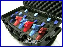 Pelican 1510 6 pistol handgun Quickdraw foam insert fits your case +nameplate