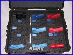 Pelican 1610 custom 15 pistol handgun foam insert fits your case +nameplate