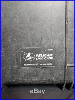 Pelican 1700 Rolling Waterproof, Crushproof, Dustproof Case- Black with No Foam