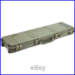 Pelican 1750 Rifle Case Safety Storage Organizer With Foam Wheels Polymer Tight