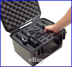 Pistol Case 4 Gun Box Accessories Tactical Safety Handgun Reinforced Storage