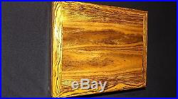 Pistol Case, Highly Figured Bacote Wood With Foam Insert, Auto Stop Hinges