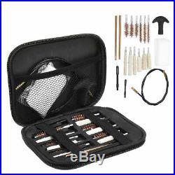 Pistol Cleaning Brush Kit Carrying Case For Caliber Hand Gun 22 357 38 40 45 9mm