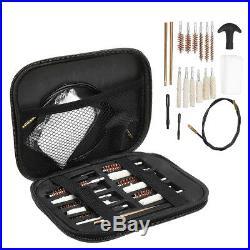 Pistol Cleaning Brush Kit For Caliber Hand Gun 22 357 38 40 45 9mm Carrying Case