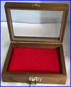 Pistol Gun Presentation Case Glass Top Wood Box Beretta M1934 M34 M35 Pietro