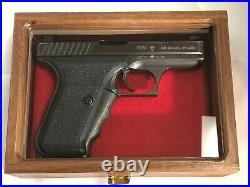 Pistol Gun Presentation Case Glass Top Wood Box For H&k P7 Heckler & And Koch D
