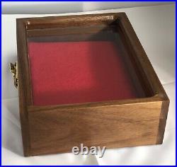 Pistol Gun Presentation Case Glass Top Wood Box For Walther Pp Firearm German
