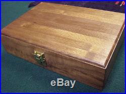 Pistol Gun Presentation Case Wood Box 1911 Fits Colt Kimber Radom Berretta 92