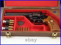 Pistol Gun Presentation Case Wood Box Colt Boa 6 Barrel Snake Firearm Rare