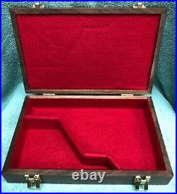 Pistol Gun Presentation Case Wood Box Colt Diamondback 4 Barrel Snake Firearm