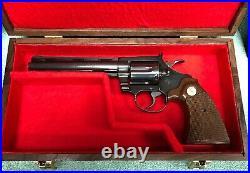 Pistol Gun Presentation Case Wood Box Colt Diamondback 6 Barrel Snake Firearm