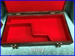Pistol Gun Presentation Case Wood Box Colt Grizzly 6 Barrel Snake Firearm Rare