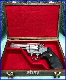 Pistol Gun Presentation Case Wood Box Colt King Cobra 4 Barrel Snake Firearm