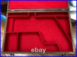Pistol Gun Presentation Case Wood Box Colt Python Hunter Haliburton Foam Scope