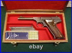 Pistol Gun Presentation Case Wood Box Colt Woodsman Huntsman Targetsman Pre 22