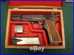 Pistol Gun Presentation Case Wood Box Fits Browning Hi Power High G-35 Hp-35 Bhp