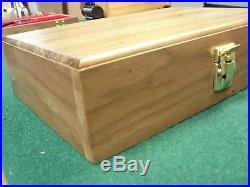 Pistol Gun Presentation Case Wood Box For Browning High Power Bhp John Hi P35 HP