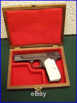 Pistol Gun Presentation Case Wood Box For Colt 1903 1908 Hammerless