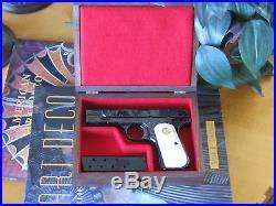 Pistol Gun Presentation Case Wood Box For Colt 1903 1908 Hammerless Pocket Auto