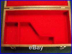 Pistol Gun Presentation Case Wood Box For Colt King Cobra Revolver Snake. 357