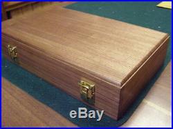 Pistol Gun Presentation Case Wood Box For Colt Python Revolver Snake. 357 6