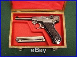 Pistol Gun Presentation Case Wood Box For German Luger Po8 Mauser Dwm Parabellum