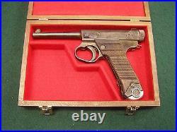 Pistol Gun Presentation Case Wood Box For Nambu Japanese Japan Type 14 Pistol Nr