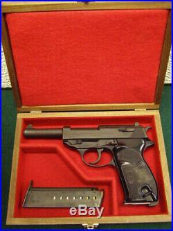 Pistol Gun Presentation Case Wood Box For Walther P38 P1 Mauser Wwii Service