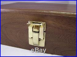 Pistol Gun Presentation Case Wood Box For Walther Ppk Pp Semi Auto James Bond