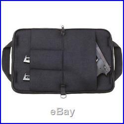 Pistol Rug Black Soft Padded 12 Hand Gun Case Storage Zippered Pouch 4 Pockets