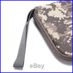 Pistol carry bag portable military handgun holster pouch hand gun soft case
