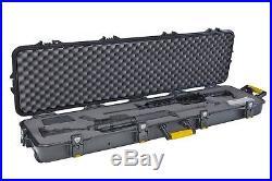 Plano Double Scoped Rifle Hard Case withWheels Gun Storage Hunting Watertight NEW