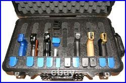 Precut 7 pistol handgun QuickDraw foam insert fits Pelican 1510 case +Bonus