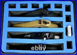 Precut Blue Topper 4 pistol handgun gun foam insert fits your Pelican 1400 case