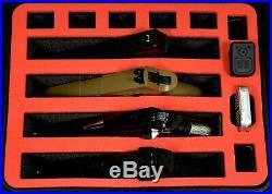 Precut Red Topper 4 pistol handgun gun foam insert fits your Pelican 1400 case