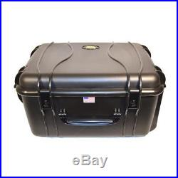 Quick Fire QF960S 20 Pistol/Revolver Air/Watertight Storage Case withLocks, Black