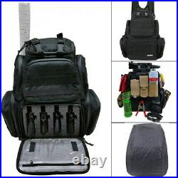 Reinforced Backpack Tactical Range Bag Handgun Firearm Pistol Accessory Bag Case