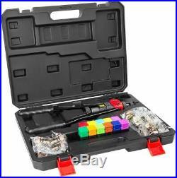 Rivet Gun Kit 110 PC Set Nut Setter Hand Tool Metric SAE Mandrel Fastener Case