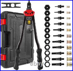 Rivet Hand Nut Tool Kit Rivnut Setter NutSert Metric & SAE Riveting Gun With Case