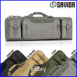 SAVIOR Double Rifle Soft Case Firearm Long Carbine Gun Padded Carry Drag Bag
