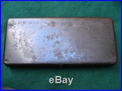 Smith Wesson Straight Line Original Metal Box Case Target Single Shot Vintage