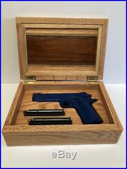 Solid Red Oak 1911 Pistol Display or Presentation Case
