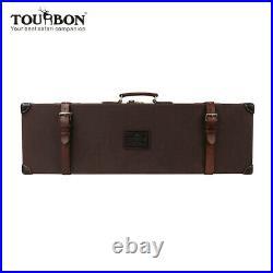 TOURBON Wax Canvas Hard Gun Case Hunting Shotgun Rifle Carry Box Hand Stitching