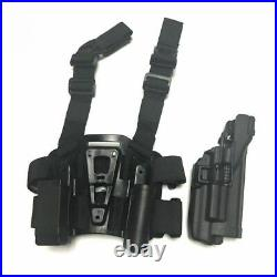 Tactical Drop Leg Gun Holster Right Hand Glock Thigh Pistol Case With Flashlight