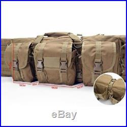 Tactical Dual Rifle case Range Bag, Shooting Hunting Range, 48-36 Black