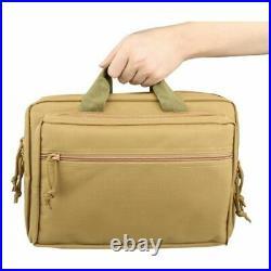 Tactical Gun Bag Case Padded Soft Backpack Handgun Hunting Pistol Magazine Pouch