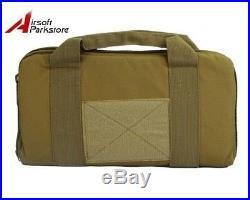Tactical Nylon Padded Pistol Holster Hand Gun Bag Magazine Holder Pouch Case Tan