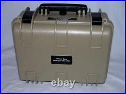 Tan Armourcase Waterproof 1450 case include precut 5 pistol handgun foam case